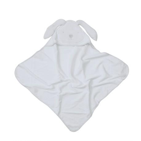 Toalla con capucha Blanca abierta