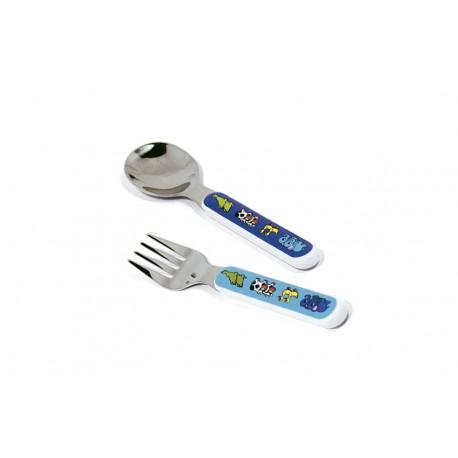 Cuchara y tenedor para bebé de Loan Baby