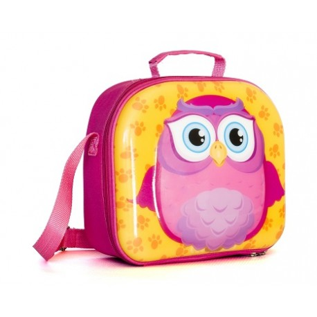 Fiambrera Lunch Box Búho Rosa