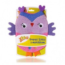 Manopla de Baño Owl Purple