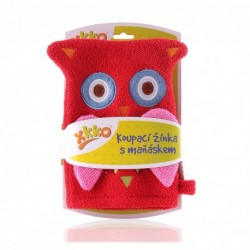 Manopla de Baño Owl Red