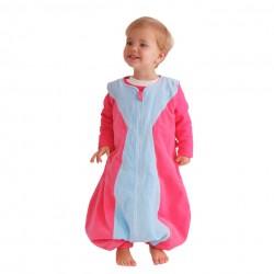 Niño con Saco de dormir infantil Reina Azul