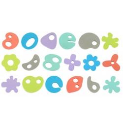 Espumas con formas para baño - 36 piezas