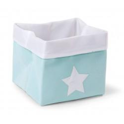 Caja Canvas Plegable 32*32*29 - Verde/Blanco