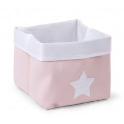 Caja Canvas Plegable 32*32*29 - Rosa/Blanco