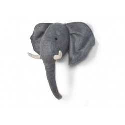 Cabeza animal fieltro - Elefante