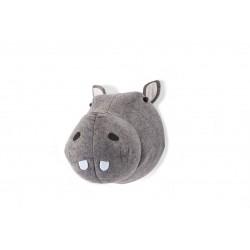 Cabeza animal fieltro - Hipopótamo