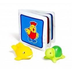 Libro, pez y tortuga para jugar en el baño