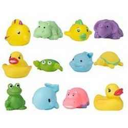 Animales baño - 12 piezas