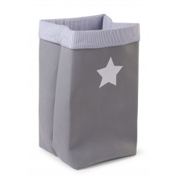 Caja Canvas Plegable 32*32*60 - Gris/Rayas