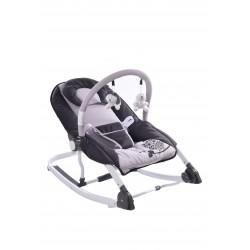 Hamaca bebés con juegos gris