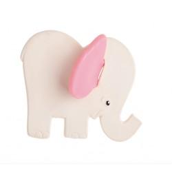 Mordedor para bebés Elefante orejas rosas