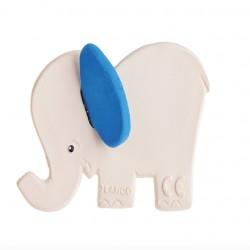 Mordedor para bebés Elefante orejas azules