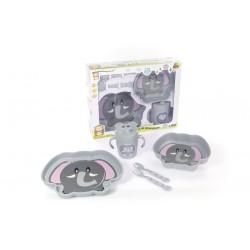 Vajilla para bebé de 5 piezas Elefante