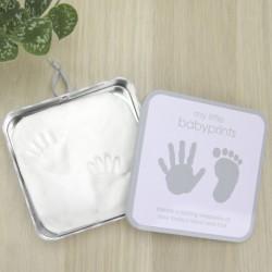 Lata Cuadrada Gris Babyprints Pearhead