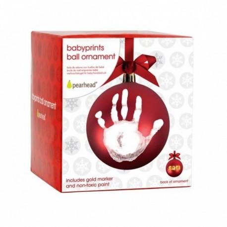 Ornamento Bola Roja Babyprints Pearhead