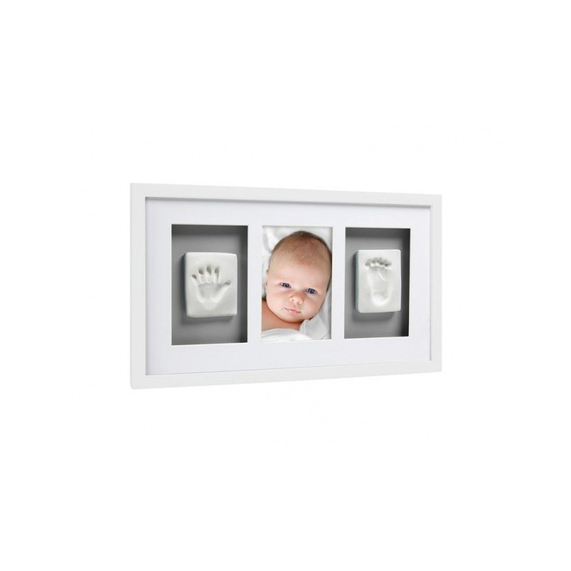 Marco Pared Babyprints Deluxe Blanco Gris Pearhead